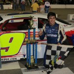 Chase Elliott Wins his first Southern Super Series race presented by Sunoco. at Montgomery Motor Speedway (AL). (Speed51.com Photo)